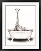 Framed Giraffe in Tub