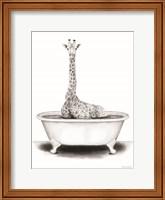 Framed Giraffe in Tub