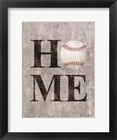 Framed Baseball HOME
