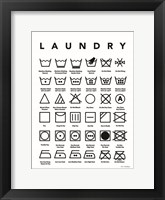 Framed Laundry Symbols