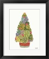 Framed Santa's Succulents