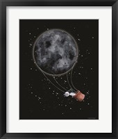 Framed Moon Hot Air Balloon