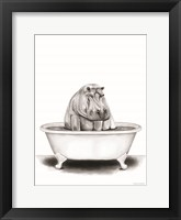 Framed Hippo in Tub