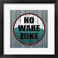 Framed No Wake Zone