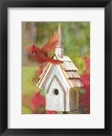 Framed Cardinal Bird House