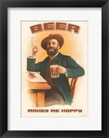 Framed Beer Makes Me Hoppy