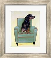 Framed Dobie on Green