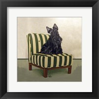 Framed Scottie on Stripes