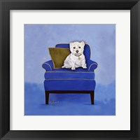 Framed Westie on Blue
