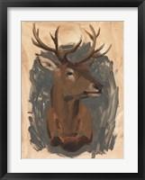 Framed Red Deer Stag I