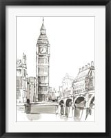Framed Pen & Ink Travel Studies II