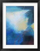 Framed Blue Wash II