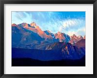 Framed Mountainscape Photograph I