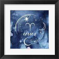Framed Watercolor Astrology I