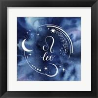 Framed Watercolor Astrology V