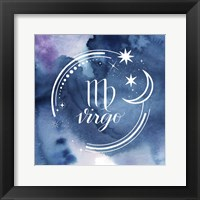 Framed Watercolor Astrology VI