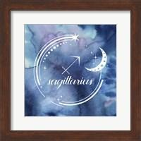 Framed Watercolor Astrology IX