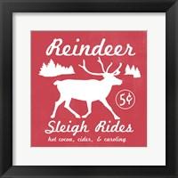 Framed Reindeer Rides I
