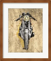 Framed Metallic Rider I