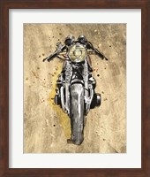 Framed Metallic Rider I