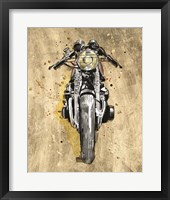 Metallic Rider I Framed Print