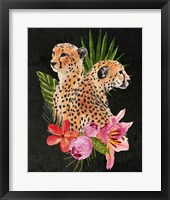 Framed Cheetah Bouquet I