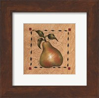 Framed Stenciled Pear I