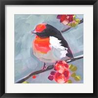 Framed Brushstroke Bird I