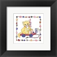 Cat Pull Toy Framed Print