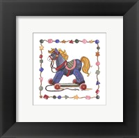 Horse Pull Toy Framed Print