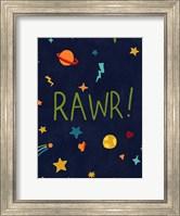 Framed Starry Dinos I