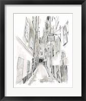 European City Sketch I Framed Print