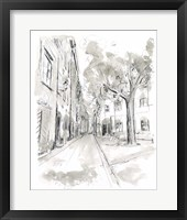 European City Sketch II Framed Print