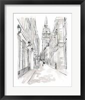 Framed European City Sketch III