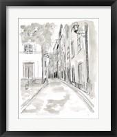 Framed European City Sketch IV