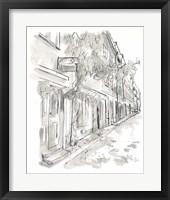 European City Sketch V Framed Print