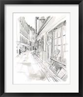 European City Sketch VI Framed Print