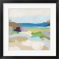 Framed Pebble Valley I