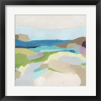 Framed Pebble Valley II
