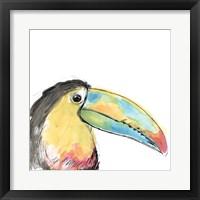 Framed Tropical Bird Portrait II