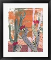 Framed Desert Flowers I