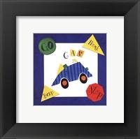 Framed Racing Car