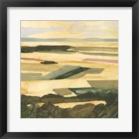 Framed Golden Farmland II