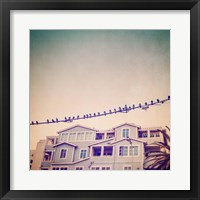 Framed Birds on Wires I