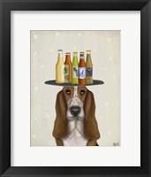 Framed Basset Hound Beer Lover