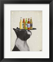Framed Boston Terrier Beer Lover