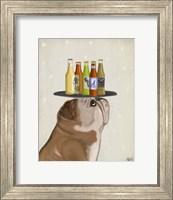 Framed English Bulldog Beer Lover
