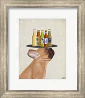 Framed French Bulldog Beer Lover