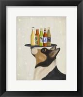 Framed Corgi Tricolour Beer Lover