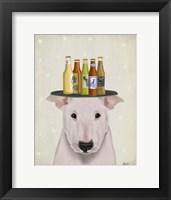 Framed English Bull Terrier Beer Lover